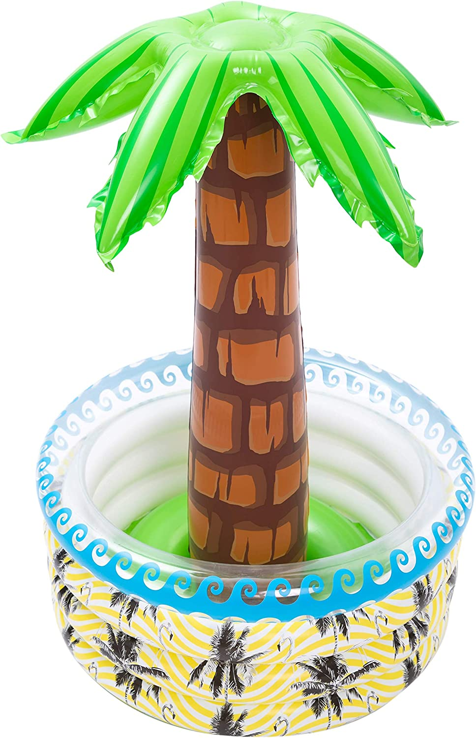 """39"""" Inflatable Palm Tree Cooler, Beach Theme Party Décor, Party Supplies for Pool Party, Luau Party and Hawaiian Party"""