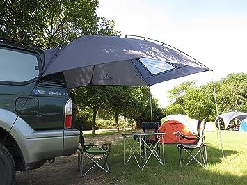 TOP-MAX 3 – 4 persona 350 cm * 200 cm senderismo tienda de campaña toldo Camping Camper remolque azoteas playa Camping SUV con portón trasero para Nissan Juke Qashqai: Amazon.es: Deportes y aire libre