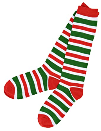 7a28bd216 Candy Cane Stripes Knee High Socks at Amazon Women s Clothing store
