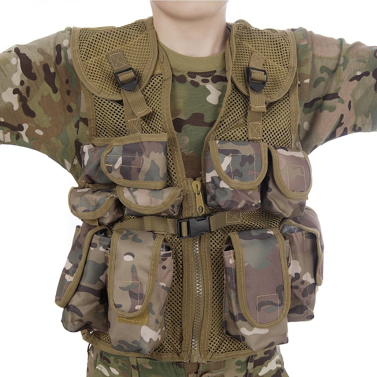 Kids Army All Terrain Camo Combat Vest - Fits Ages 5-13 Yrs KAS