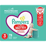 Pampers Diapers Size 3 - Cruisers 360˚ Fit Disposable Baby Diapers with Stretchy Waistband, 78 Count, Super Pack (Packaging M
