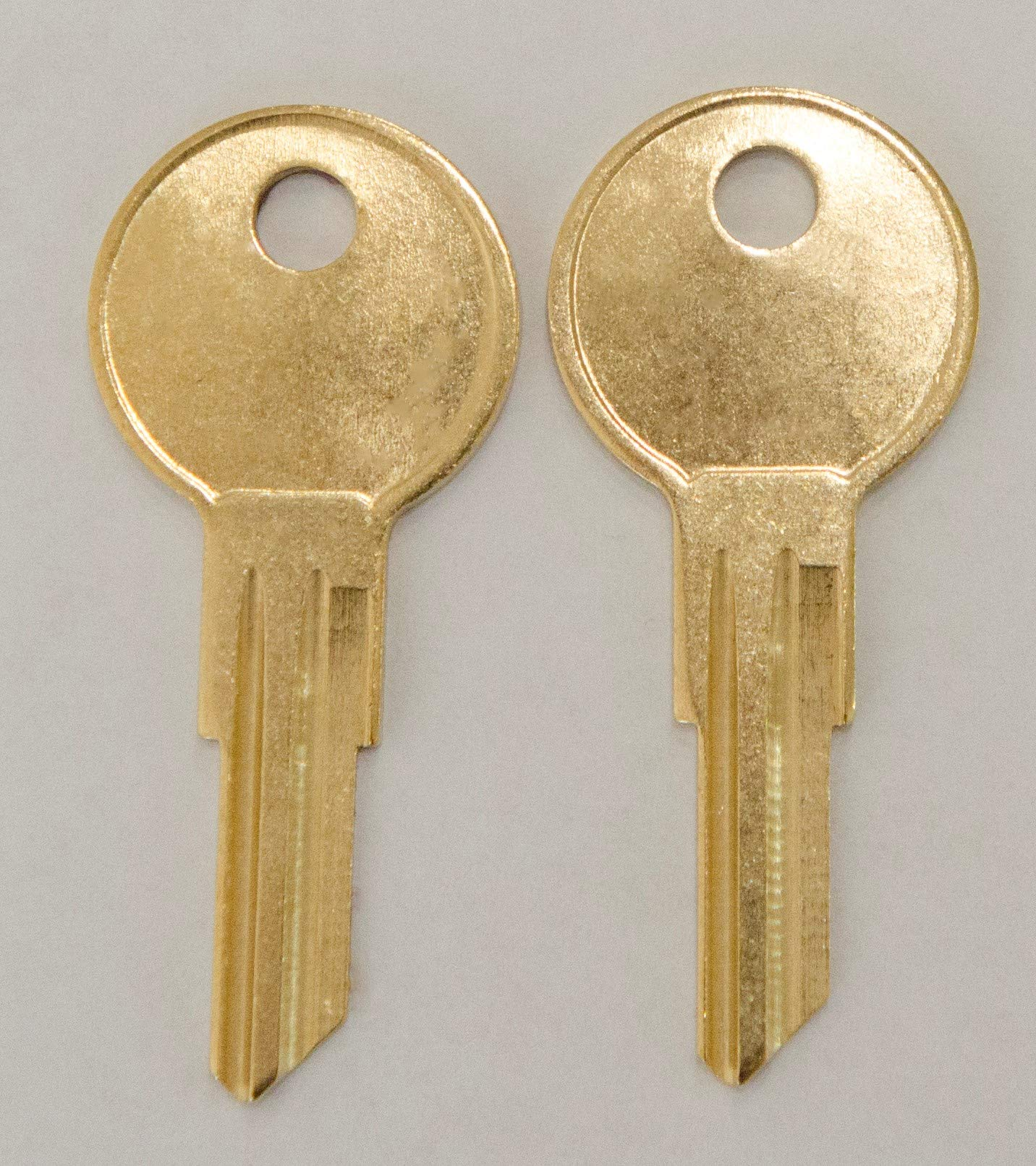 Two Replacement Keys for Herman Miller File Cabinet Office Furniture Cut to Lock/Key Numbers from UM227 to UM350 pre Cut to Code by keys22 (um317) by Keys22