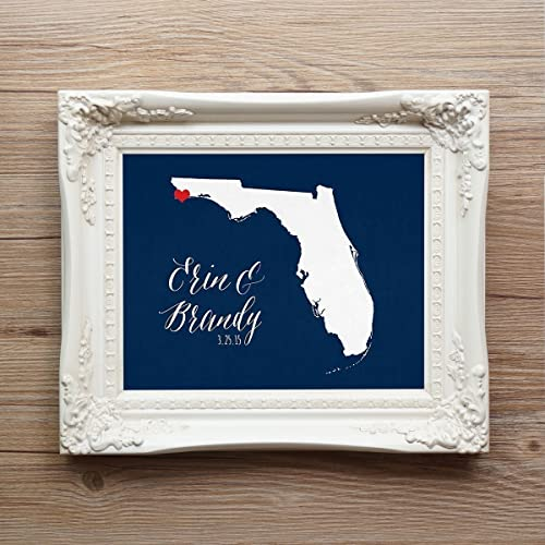 Amazon Com Florida Or Any State Or Country Wedding Art Print