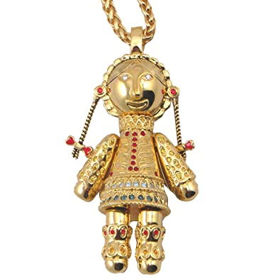 2256323bf9e4 Inspirations 18ct Gold Plated Red Gold and Blue Swarovski Crystal Ragdoll  Necklace in a Gift Box  Amazon.co.uk  Jewellery