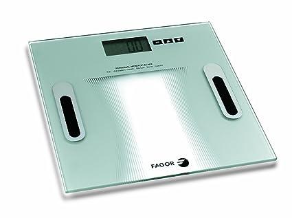 Fagor BB-350 BF - Báscula de baño analizadora de masa corporal, gran pantalla