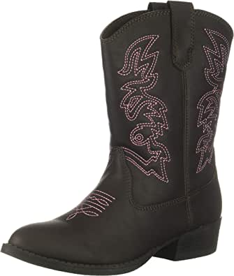 Deer Stags Kids' Ranch Pull on Western Cowboy Fashion Comfort Boot