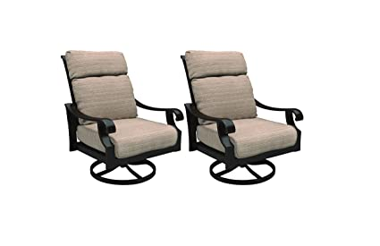 Strange Ashley Furniture Signature Design Chestnut Ridge Outdoor Swivel Lounge Chair With Cushion Set Of 2 Brown Machost Co Dining Chair Design Ideas Machostcouk
