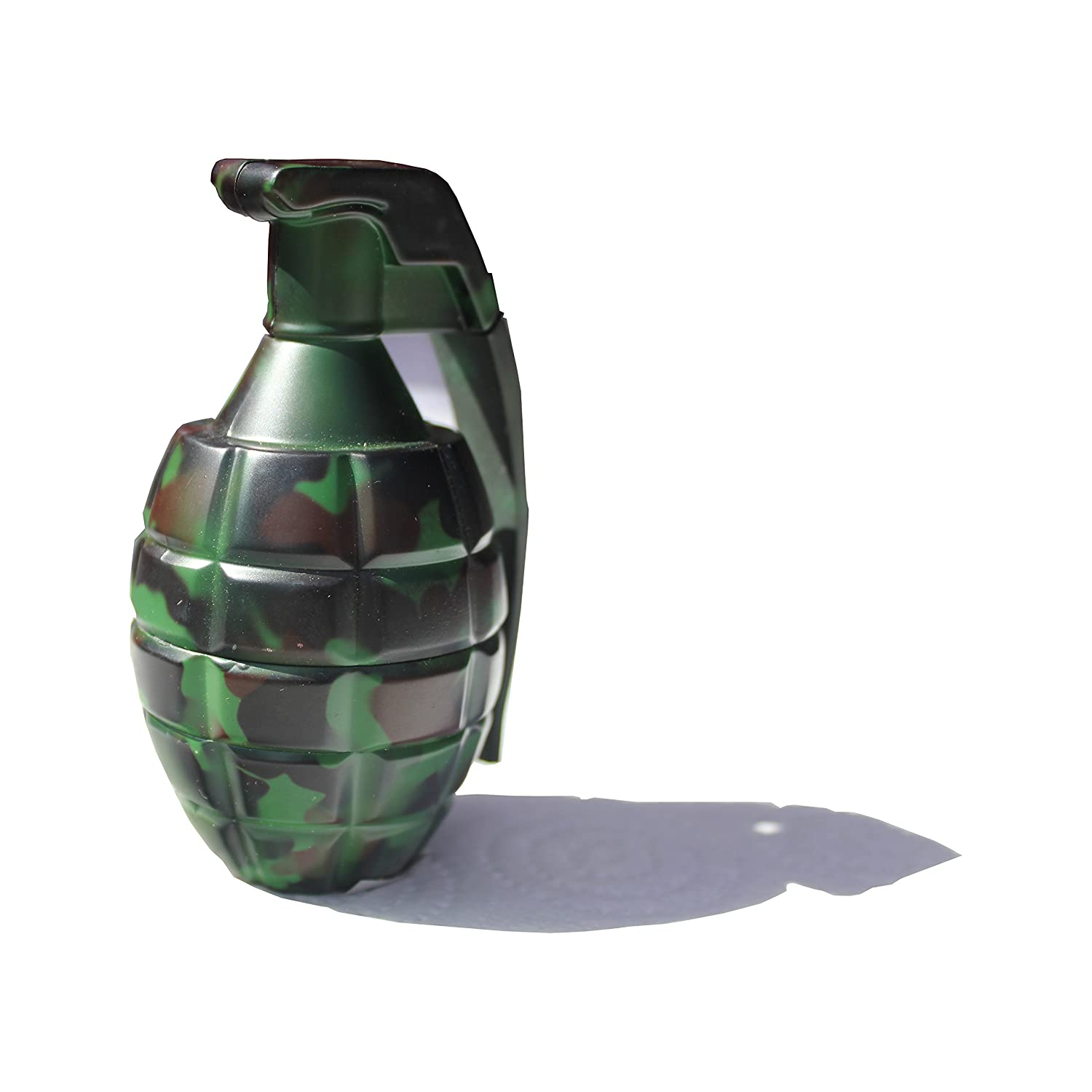 Camo Hand Grenade Shape Pin Handle 3 Parts Magnetic Herbal Grinder Pollen Sifter A R PREMIUM LTD T03-004-AZO-3