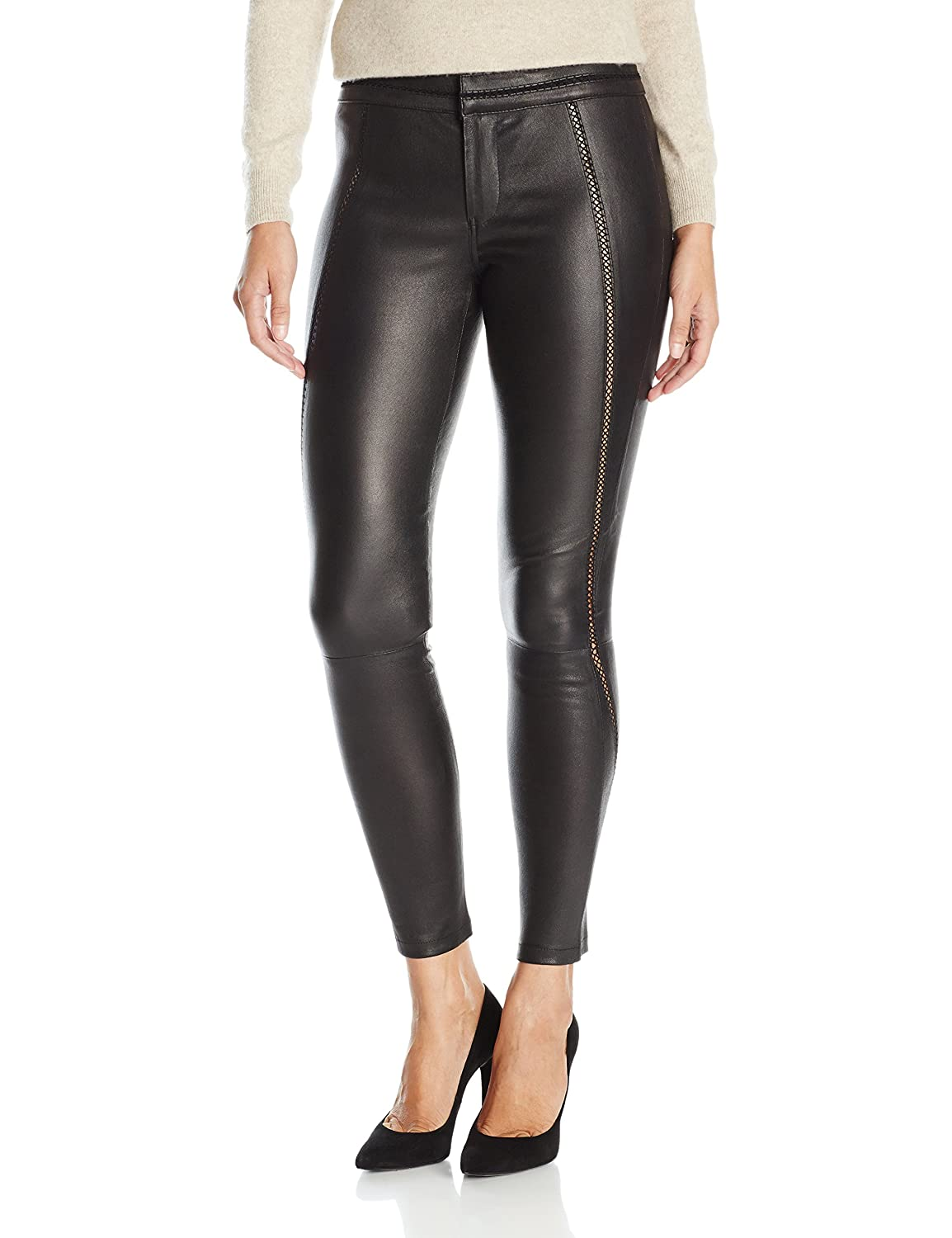 8c7a094ad6dcc Amazon.com: David Lerner Women's Stitched Leather Legging: Clothing