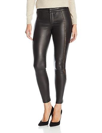 Image result for David Lerner Women's Stitched Leather Legging