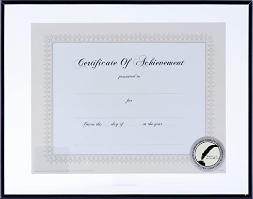 Gallery Solutions 11x14 Document Frame for Floating Display of 8.5x11 Document or Image Black