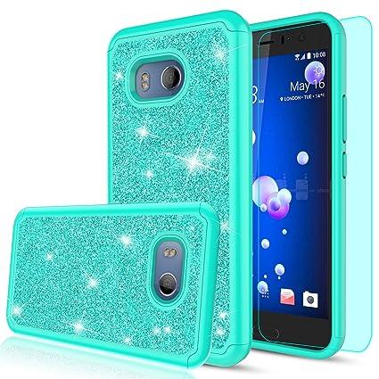 Amazon.com: HTC U11 funda, HTC Ocean Glitter Funda con ...