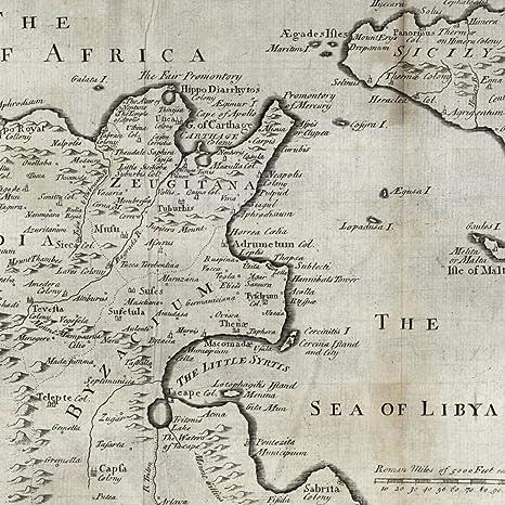 Amazon.com: Northern Africa Tunisia Sicily c.1790 Sea of ... on north america 1790, map europe 1790, map united states 1790,
