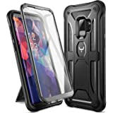 YOUMAKER Designed for Galaxy S9 Case, Heavy Duty Protection Kickstand with Built-in Screen Protector Shockproof Case Cover fo