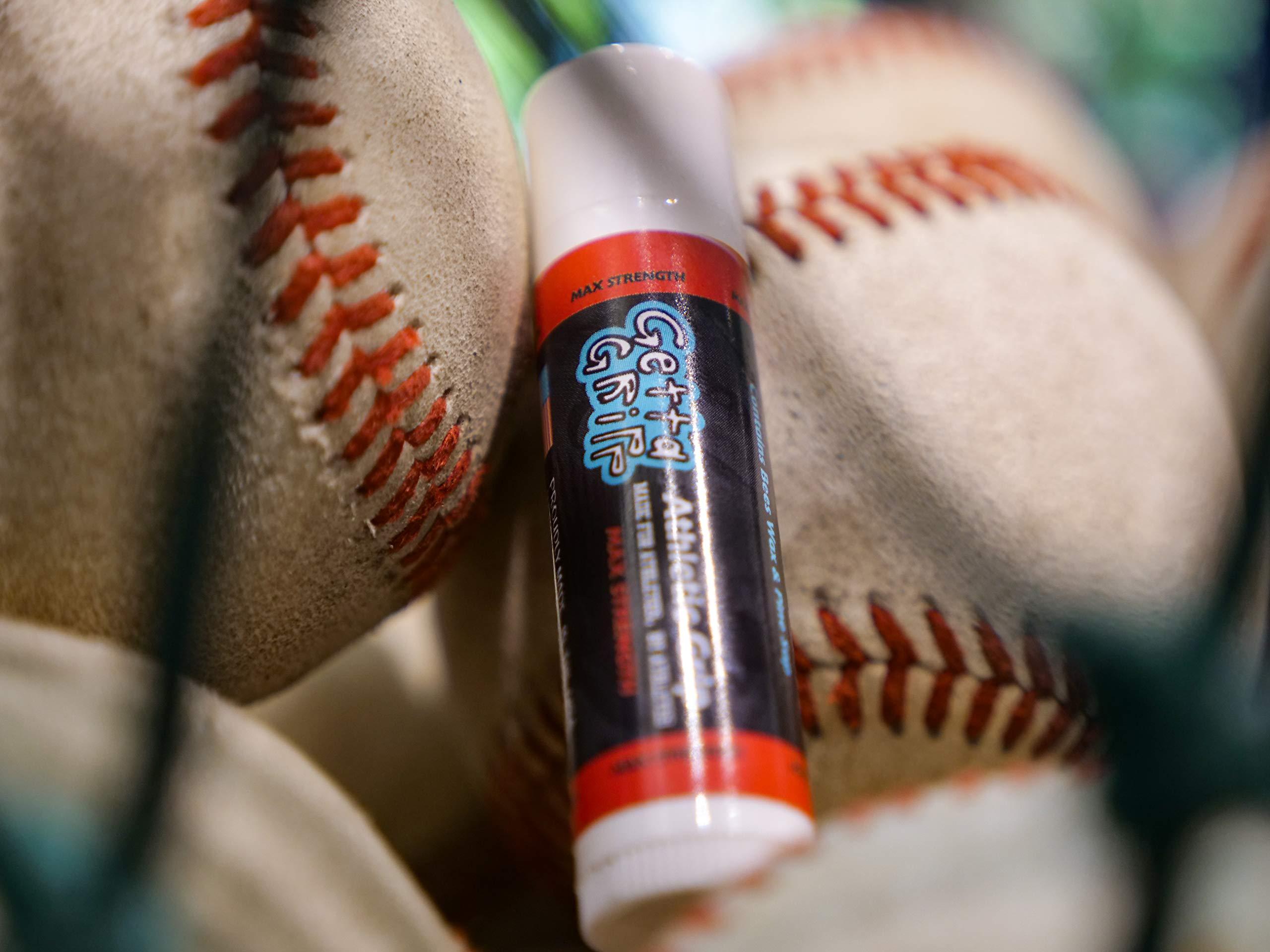 Bat Grip - Comfortable Alternative for Baseball Gloves and Pine Tar - Baseball Bat Grip and Lizard Skin Bat Grip - Baseball Bat and Softball Bat - 1 Ounce Maximum Strength by Getta Gripp
