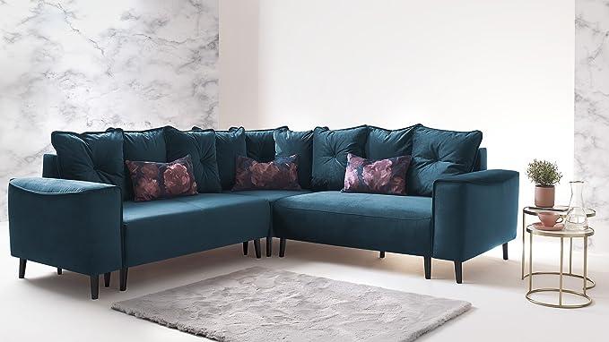 BOBOCHIC Hera L sofá de Esquina panorámica Convertible Hera ...