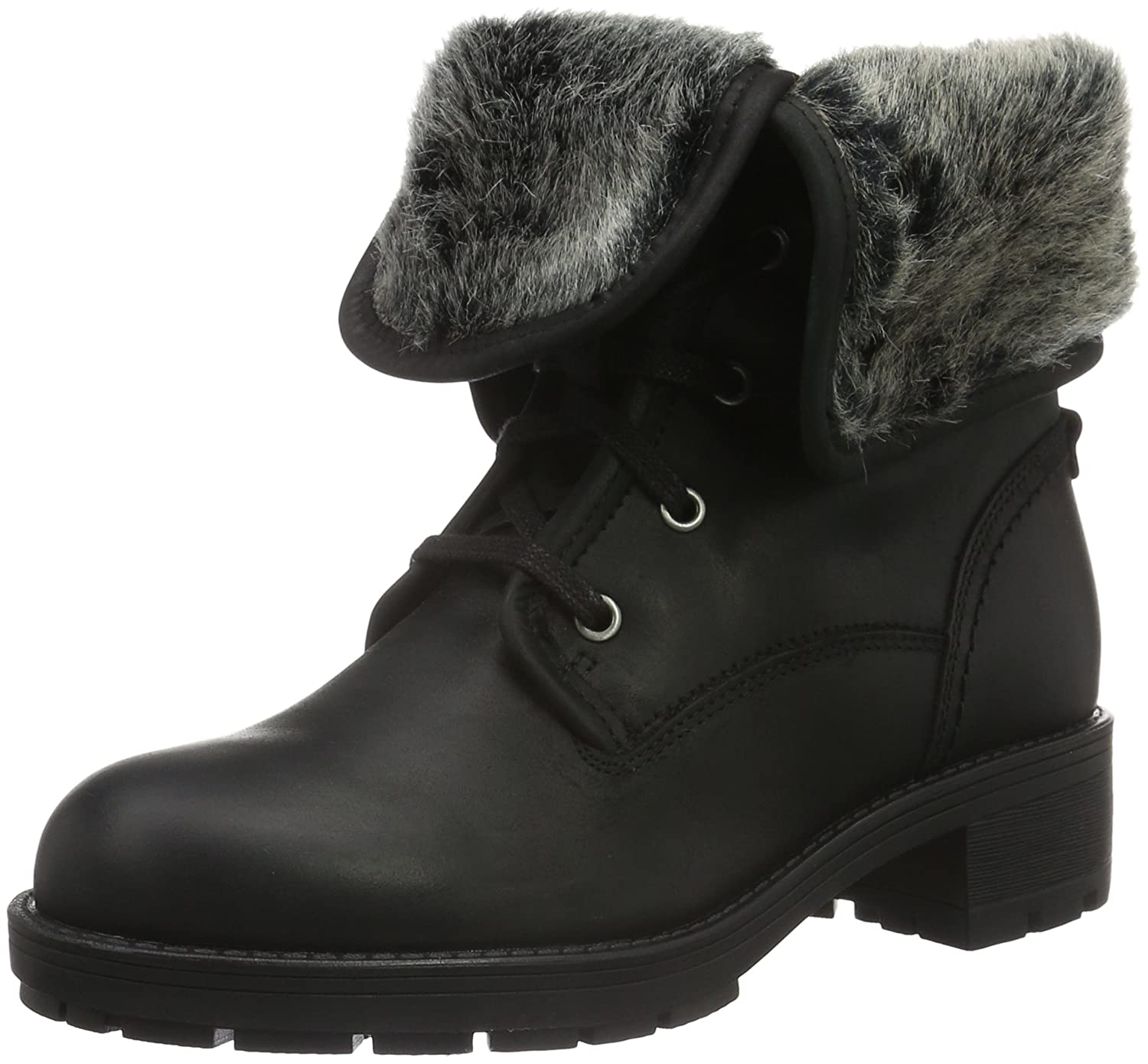 Clarks Reunite Up GTX, Botas Biker para Mujer41.5 EU|Negro (Black Leather)