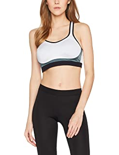IRIS & LILLY Women's Contrast Colour Racerback High Impact Sports Bra Recommend jWfucYJ