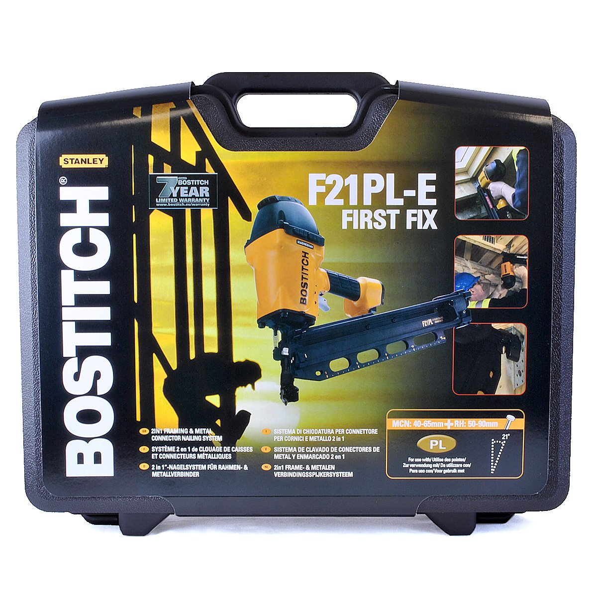 Bostitch F21PLE RH and MCN Stick Nailer with Case: Amazon.co.uk: DIY ...