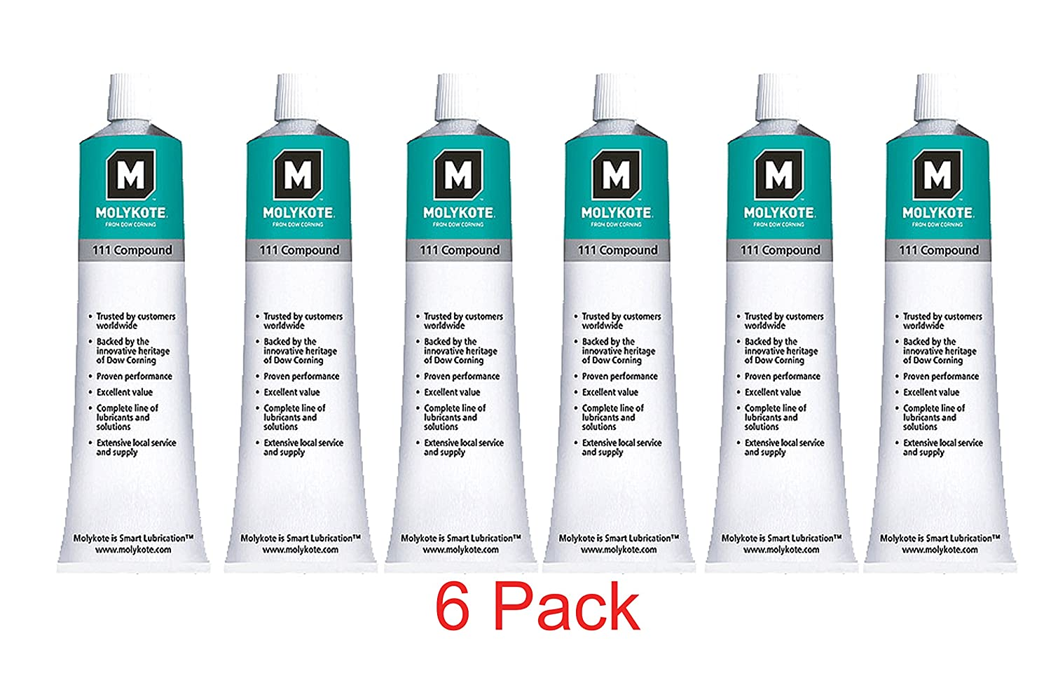 Dow Corning Molykote 111 Valve Lubricant and Sealant 5 3 Ounce Tube - 6-Pack