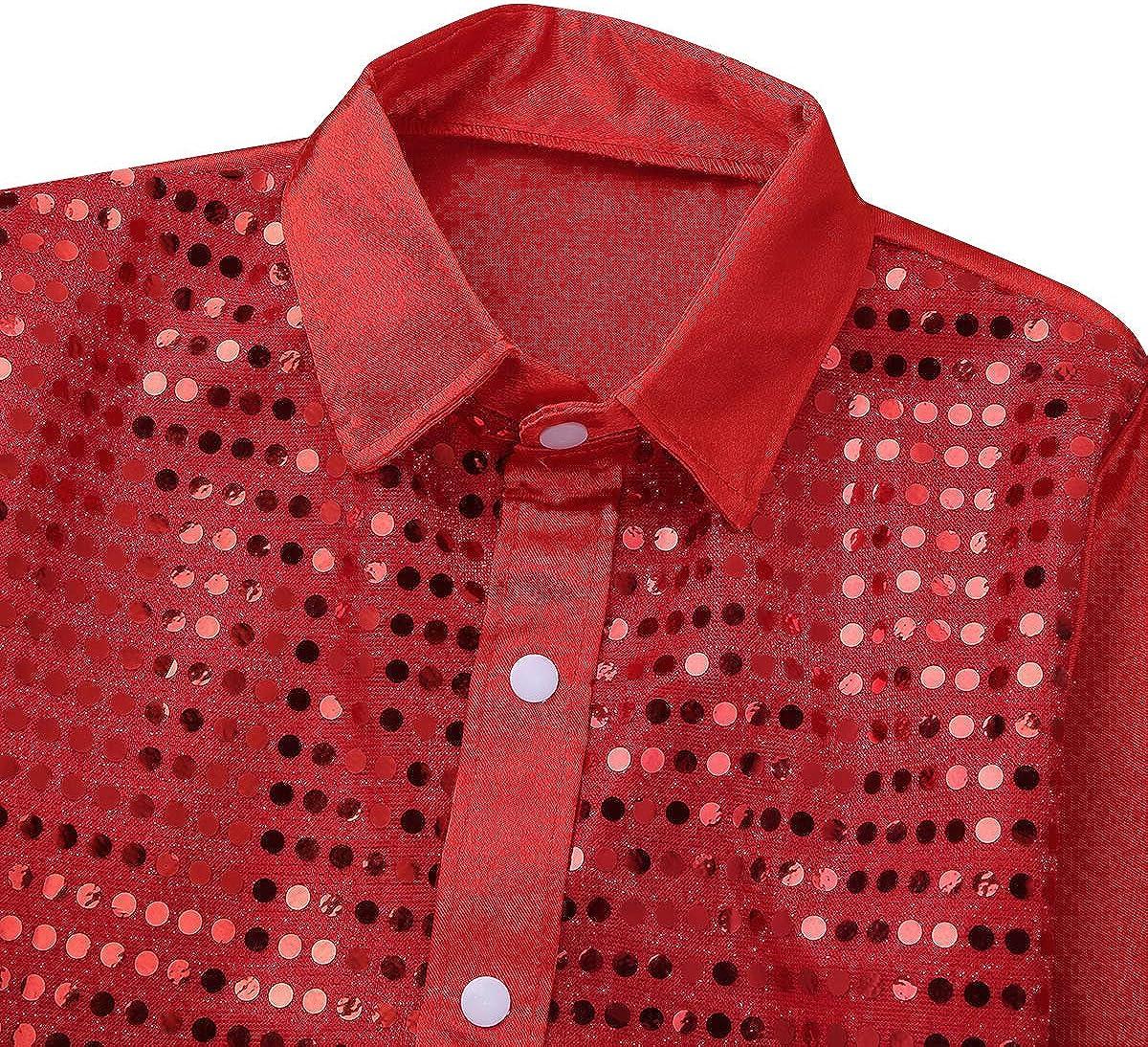 inhzoy T-Shirt /à Paillettes m/étalliques pour Jazz Tango