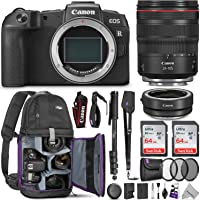 Canon EOS RP Mirrorless Digital Camera with 24-105mm Lens w/Canon Mount Adapter & Advanced Photo and Travel Bundle