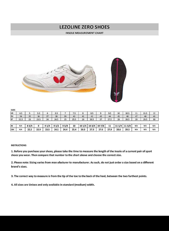febe5e89e10b3 Papillon de Tennis de Table Lezoline Zero Chaussure: Amazon.fr: Sports et  Loisirs
