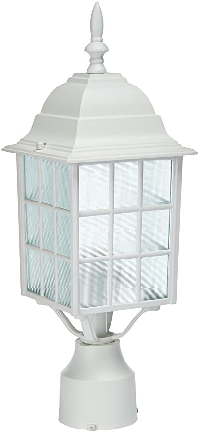 white outdoor post light exterior acclaim 5307tw nautica collection post mount outdoor light fixture textured white amazoncom