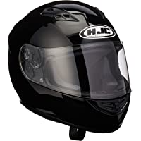 HJC CS-R2 casco de motocicleta de cara completa, Negro, Large