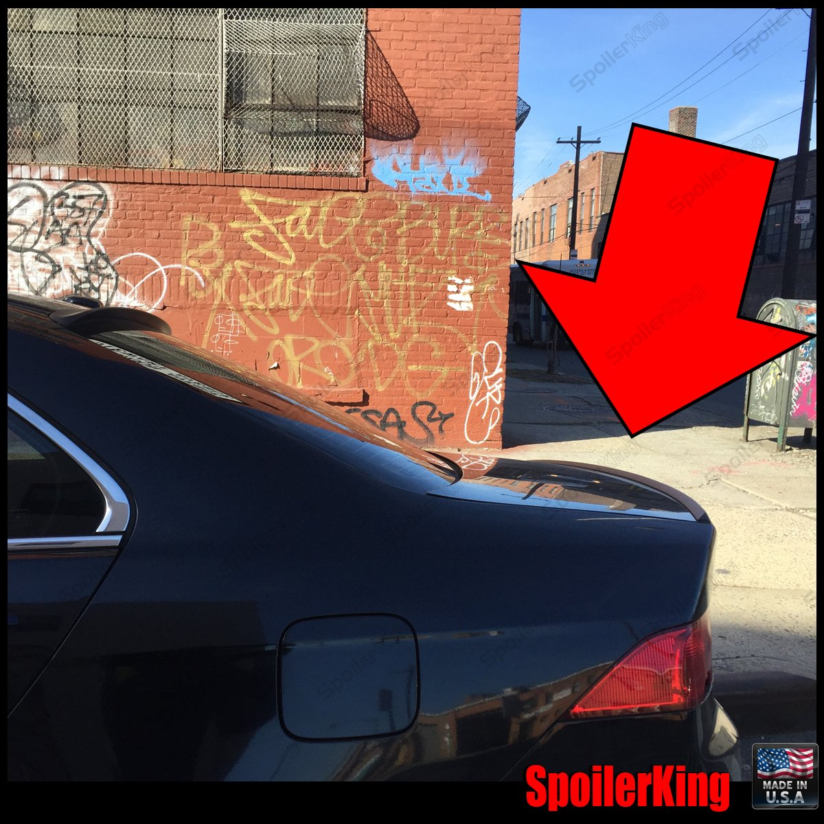 555 Type I Spoiler King Trunk Lip Spoiler Compatible with Acura TSX