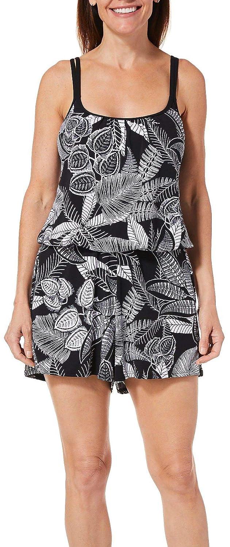 0659167d701 Maxine Womens Linework Swim Romper at Amazon Women's Clothing store: