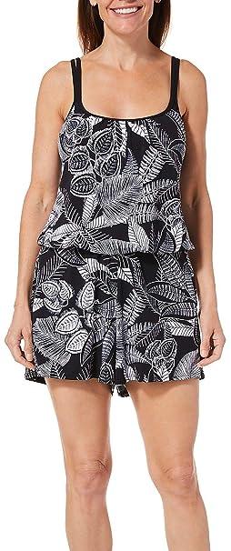 9bc074b011a4 Maxine Womens Linework Swim Romper at Amazon Women s Clothing store
