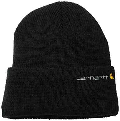 9e9dc412 Carhartt Men's Wetzel Watch Hat, Black, One Size at Amazon Men's Clothing  store: Thinsulate Knit Hat