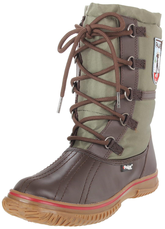 Pajar Women's Grip Low Boot B004X9AE5A 37 M EU/6-6.5 B(M) US|Dark Brown/Military Green