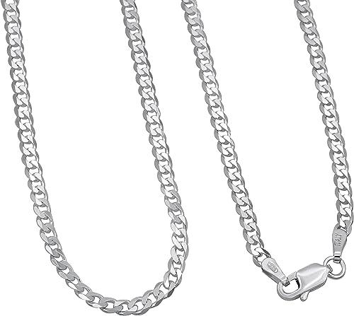 Panzerkette Silberkette Echt 925 Sterlingsilber 60cm Halskette Silber Kette 3mm