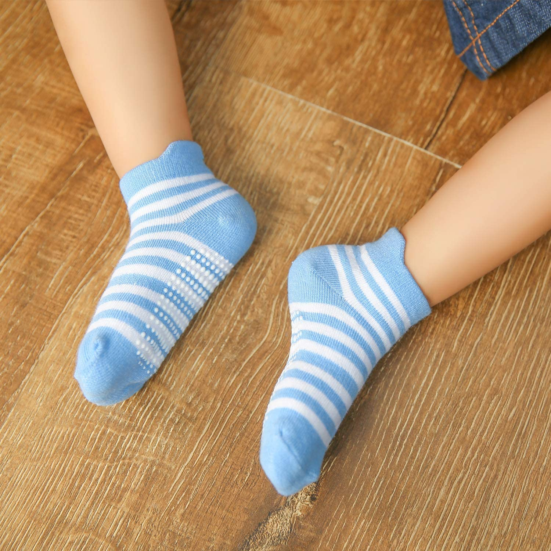 6//12 Pairs Dicry Boys Girls Ankle Socks Grips Baby Toddler Kids Non Slip Anti Skid