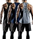 TSLA Men's R Neck Sleeveless Muscle Tank