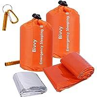 Xtextile 2Pack Emergency Sleeping Bags Lightweight and Compact Sack Survival Sleeping Bag Waterproof Thermal Emergency…