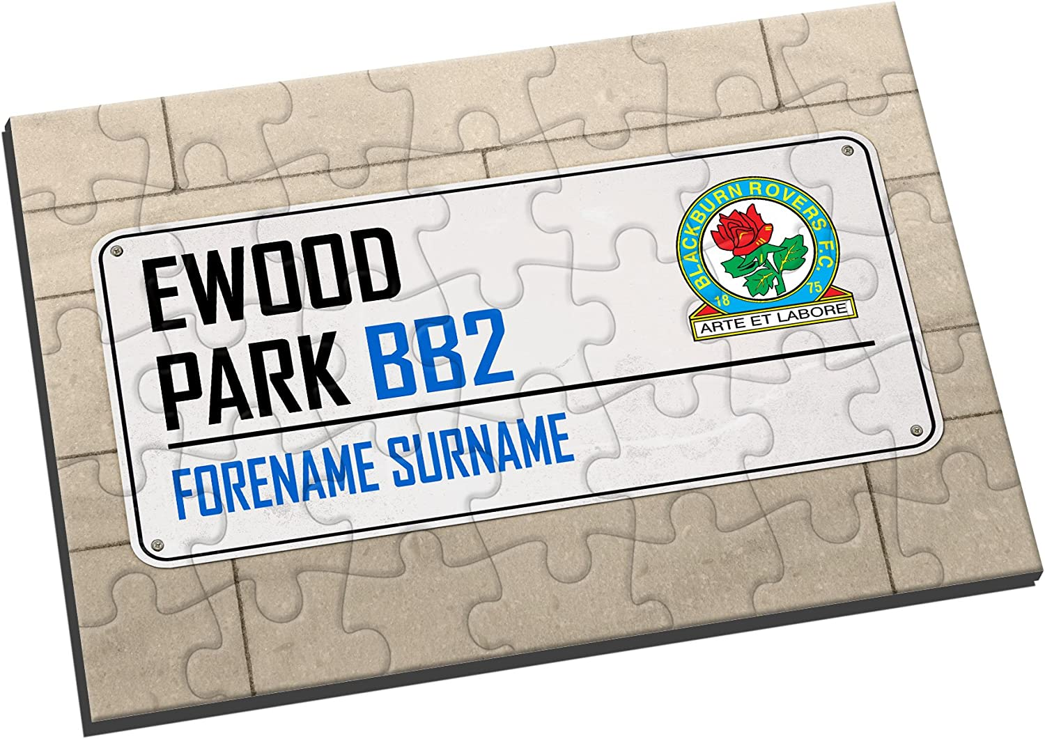 Personalised Official Blackburn Rovers FC Street Sign Jigsaw