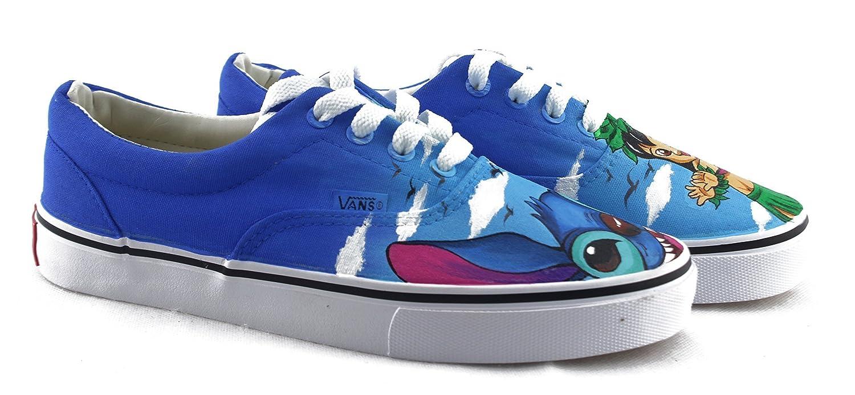 ec8fba60523559 Amazon.com  Lilo and Stitch Vans White Shoes Original Design Canvas Chuck  Sneakers Men Women Sneakers Free Shipping  Handmade