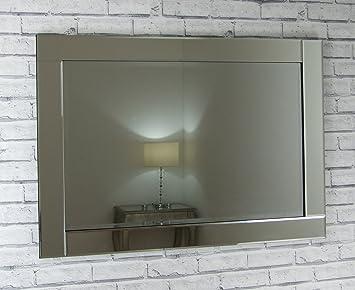 Chloe Cadre en verre Miroir mural rectangulaire 40 x 28 cm-Très ...