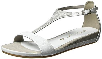Damen APICE_ST T-Spange, Weiß (White), 41 EU Unisa