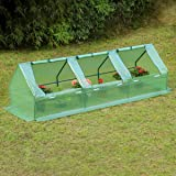 "95"" W × 32"" D × 32"" H Portable Mini Greenhouse Outdoor Green Plant Hot House with Zipper Doors for Garden,Patio,Home,Backyard"