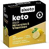 SIKETO - Minerales y vitaminas, Magnesio, sodio, potasio y vitaminas C, B1, B6, B12, Caja con 20 Sticks, Complemento…