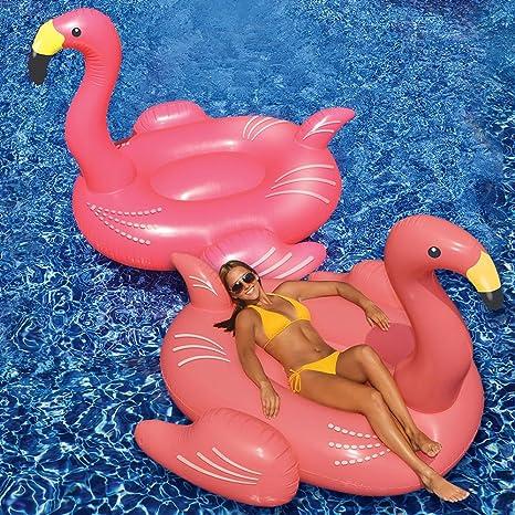 Amazon.com: Swimline gigante Flamingo (juego de 2): Toys & Games