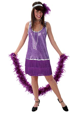 Amazon Funcostumes Purple Plus Size Flapper Dress Clothing