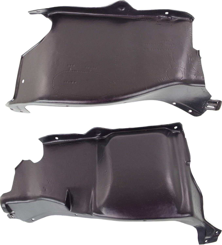 Engine Splash Shield Set of 2 Compatible with 1998-2006 Volkswagen Beetle Driver and Passenger Side