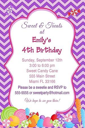 30 invitaciones personalizada Candy niña fiesta de ...