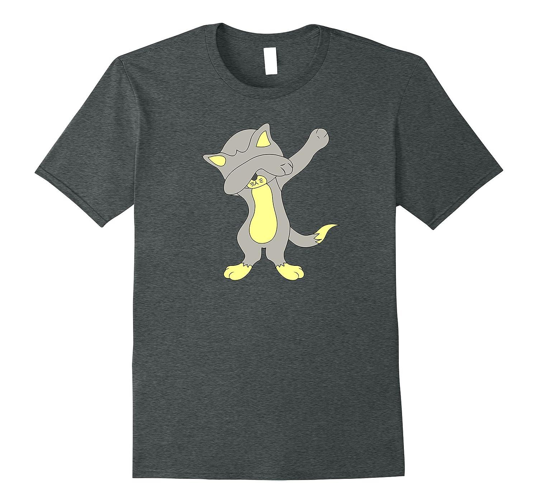 Dabbing Kitty Tshirt Medium Asphalt-Samdetee