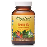 MegaFood, Vegan B12, Helps Support Healthy Energy Levels, Daily Multivitamin Dietary Supplement, Gluten Free, Non-GMO, 30 Mini-Tablets (30 Servings) (FFP)